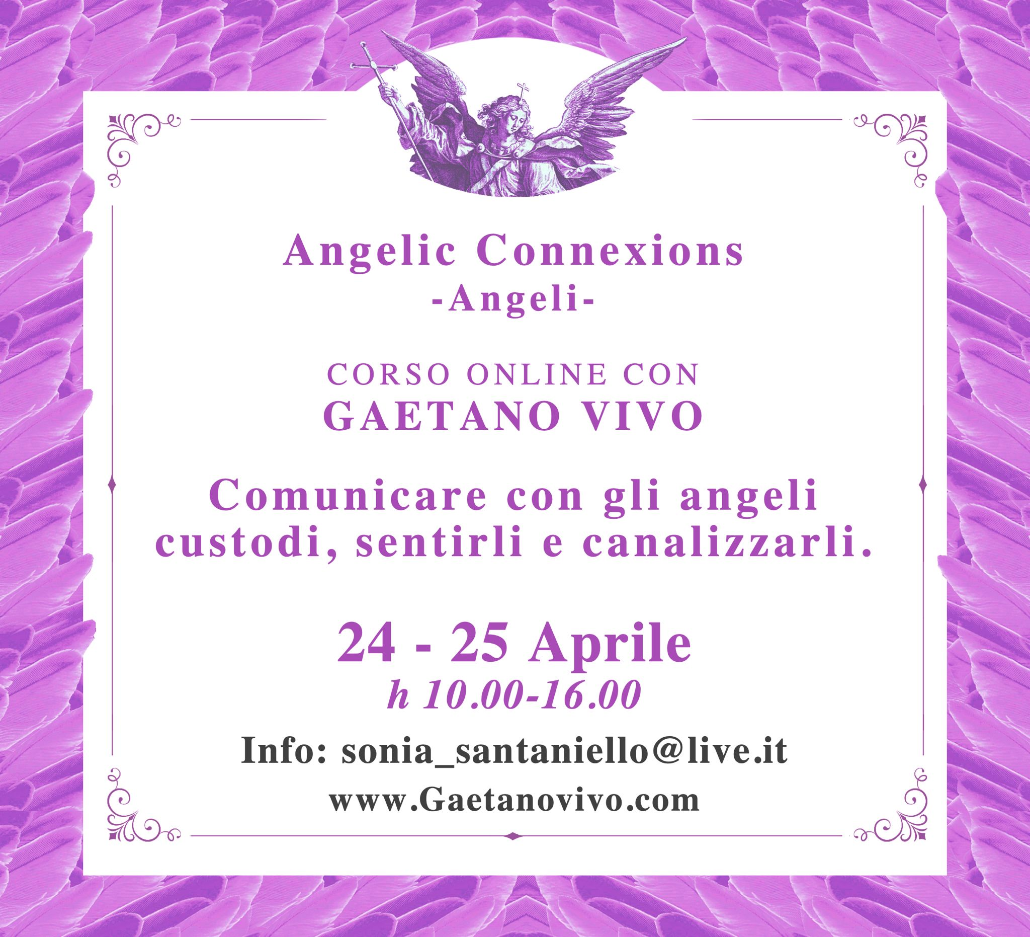 angelic connexions 24 25 aprile